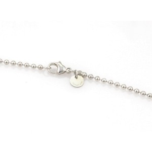 Tiffany & Co. 925 Sterling Silver & 18K Yellow Gold Heart Padlock Key Pendant Bead Necklace