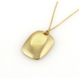 Tiffany & Co. Peretti 18K Yellow Gold Concave Disc ID Pendant Necklace