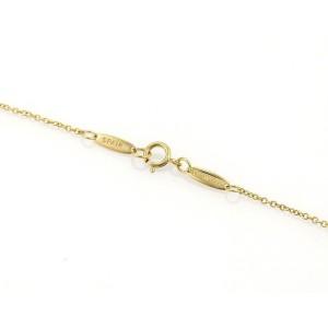 Tiffany & Co. Peretti 18K Yellow Gold Concave Disc ID Pendant Necklace