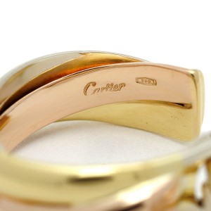 Cartier Trinity 18K White Rose and Yellow Gold Earrings