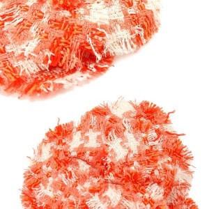 Chanel Tweed Camellia Corsage Brooch