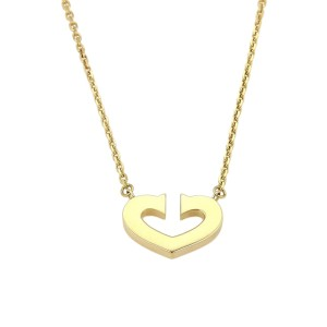 Cartier 18K Yellow Gold C Hearts of Cartier Pendant & Chain Necklace