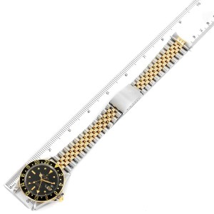 Rolex GMT Master Steel Yellow Gold Black Dial Vintage Mens Watch 16753