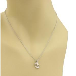 Tiffany & Co. Peretti 950 Platinum Coiled Snake Pendant Necklace