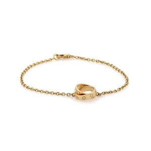 Cartier Baby Love Charms Chain Bracelet 18K Yellow Gold