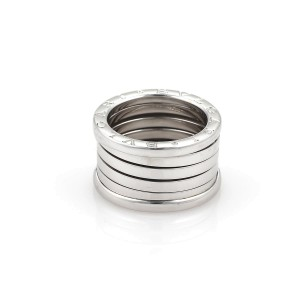 Bulgari B Zero-1 18K White Gold 13mm Band Ring Size 5