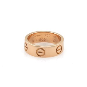 Cartier Ring 18k Rose Gold Size 3.75