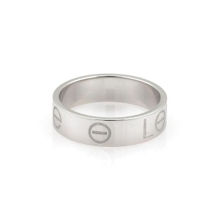 Cartier Ring 18k White Gold Size 8