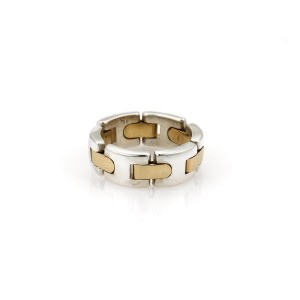 Tiffany & Co.18k Yellow Gold Chain Ring Size 6