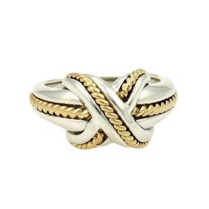 Tiffany & Co. X Crossover 18k Yellow Gold Sterling Ring Size 4