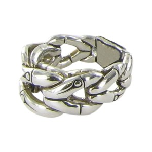 John Hardy Bamboo 925 Sterling Silver Link Band Ring Size 7