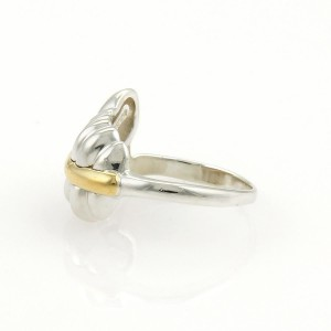Tiffany & Co. 1990 18K Yellow Gold, Sterling Silver Ring Size 5.25