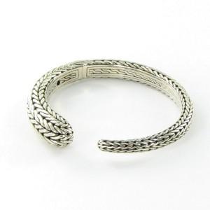 John Hardy Classic Chain 925 Sterling Silver Small Kick Cuff Bracelet