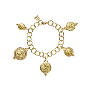 Temple St. Clair Arno 18K Yellow Gold with 0.82ct Diamond Charm Bracelet