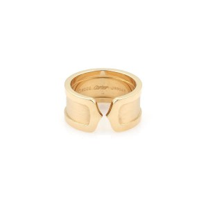 Cartier Double 18K Yellow Gold Ring Size 7
