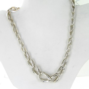 John Hardy Bamboo 925 Sterling Silver Interlinking Necklace