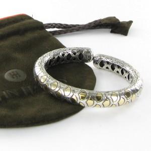 John Hardy Naga Legends 925 Sterling Silver and 18K Yellow Gold Cuff Bracelet