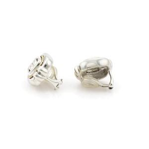 Tiffany & Co. 18K Yellow Gold, Sterling Silver Earrings