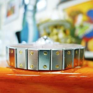 Cartier Santos Octagon Steel 18K Gold Date Automatic 25mm Ladies Watch