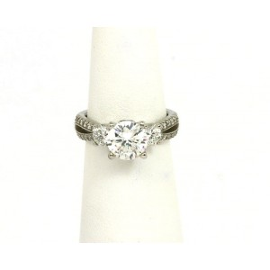 b4273fae9 Scott Kay 1.06ct Diamond Platinum Mounting Solitaire wAccent Engagement Ring