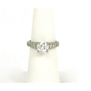 a5d93fd30 Scott Kay Diamond Platinum Solitaire Engagement Mounting w/Accent Diamonds