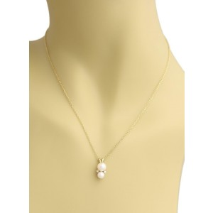 06423d625 Tiffany & Co. Diamonds & Pearls 18k Yellow Gold Pendant Necklace ...