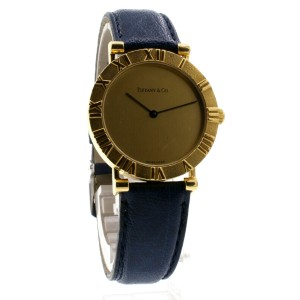 Tiffany & Co. 18K Yellow Gold ATLAS Roman Numeral Quartz Round Watch
