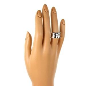Bvlgari Bulgari B Zero 1 18k White Gold 12mm Band Ring Size 55-US 7
