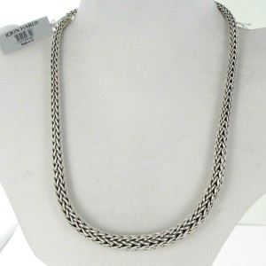 "John Hardy Classic Chain 13mm Graduated Necklace 18"" Sterling Silver"