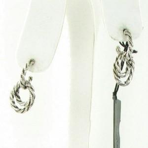 John Hardy Classic Chain Earrings Sm Double Hoop Drop Sterling EB99900