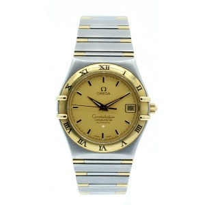 Omega Constellation 18K Solid Gold Steel Chronometer Automatic 36mm Men's Watch