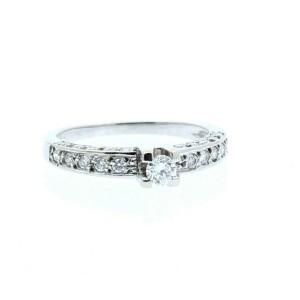 18k White Gold .75ct Diamonds  Ladies Ring Size 6