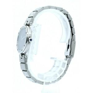 CARTIER Santos Round Stainless Steel Date Quartz 27mm Ladies Watch