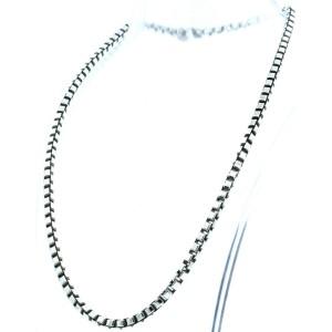 Tiffany & Co Sterling Silver Venetian Link 17 Inch Men's Chain Necklace