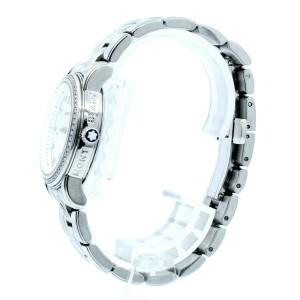 Montblanc Meisterstuck Diamond Date 32mm Quartz Steel Ladies Watch Ref: 7079