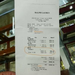 Ralph Lauren 18k Yellow Gold Stirrup Link Watch 92.3 Grams