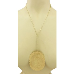 H. Stern 18k Yellow Gold Large Pendant & Long Snake Chain Lariat Necklace