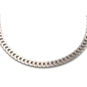 Cartier C Hearts 18k White Gold All Around C Logo Collar Necklace w/Paper