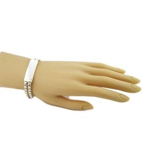 David Yurman Sterling Silver ID Bar & Double Box Chain Bracelet