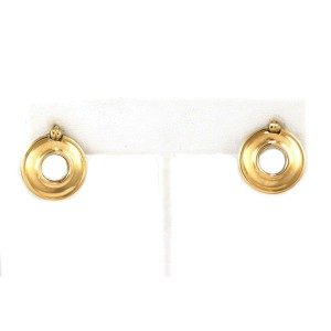 Tiffany & Co. Picasso 18k Yellow Gold 925 Silver Reversible Round Earrings