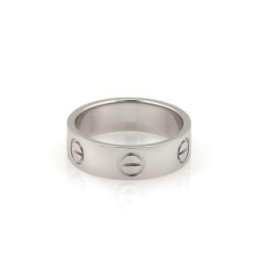 Cartier Love Platinum 5.5mm Band Ring Size 50-US 5.25 w/Cert