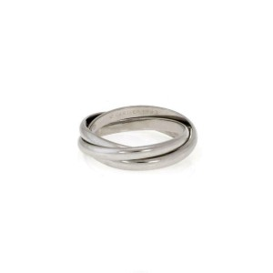 Cartier Trinity Platinum 2.5mm Triple Rolling Band Ring Size EU 54-US 7