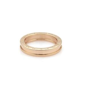 Bvlgari Bulgari B Zero-1 18k Rose Gold 5mm Wide Band Ring Size 50-US 5.5
