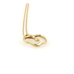 Tiffany & Co. Peretti 18k Yellow Gold Apple Pendant & Chain Necklace