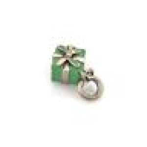 Tiffany & Co. Picasso Vintage Sterling Silver Green Enamel Gift Box Charm