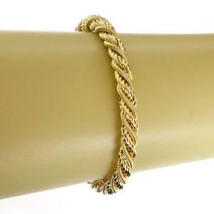 Marco Bicego 18k Yellow Gold Twisted Snake Rope Design Bracelet