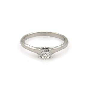 Tiffany & Co. LUCIDA 0.27ct Diamond Platinum Engagement Ring Size 5.5