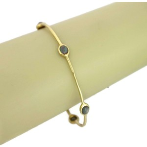 Ippolita Rock Candy Hematite 5 Station 18k Yellow Gold Bangle