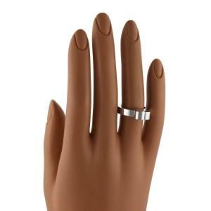 Chopard Happy Diamond 18k White Gold High Heart Ring Size 5.25