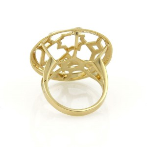Tiffany & Co Picasso Zellige 18k Yellow Gold Fancy Open Dome Ring Size 5.5